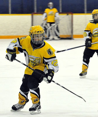 Coquitlam Chiefs Players wearing LAGA Sports hockey jersey and hockey socks image 4