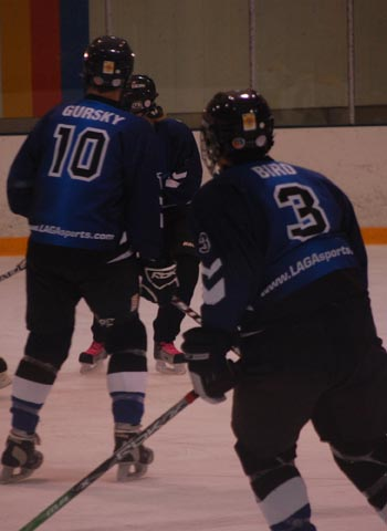 Ice Dragon players in defensive action