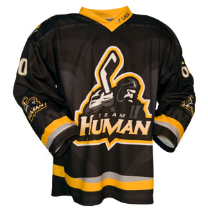 Fully custom ball hockey jersey front view