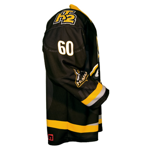 Fully custom ball hockey jersey side view